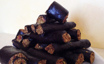 Nori wrapped energy sticks
